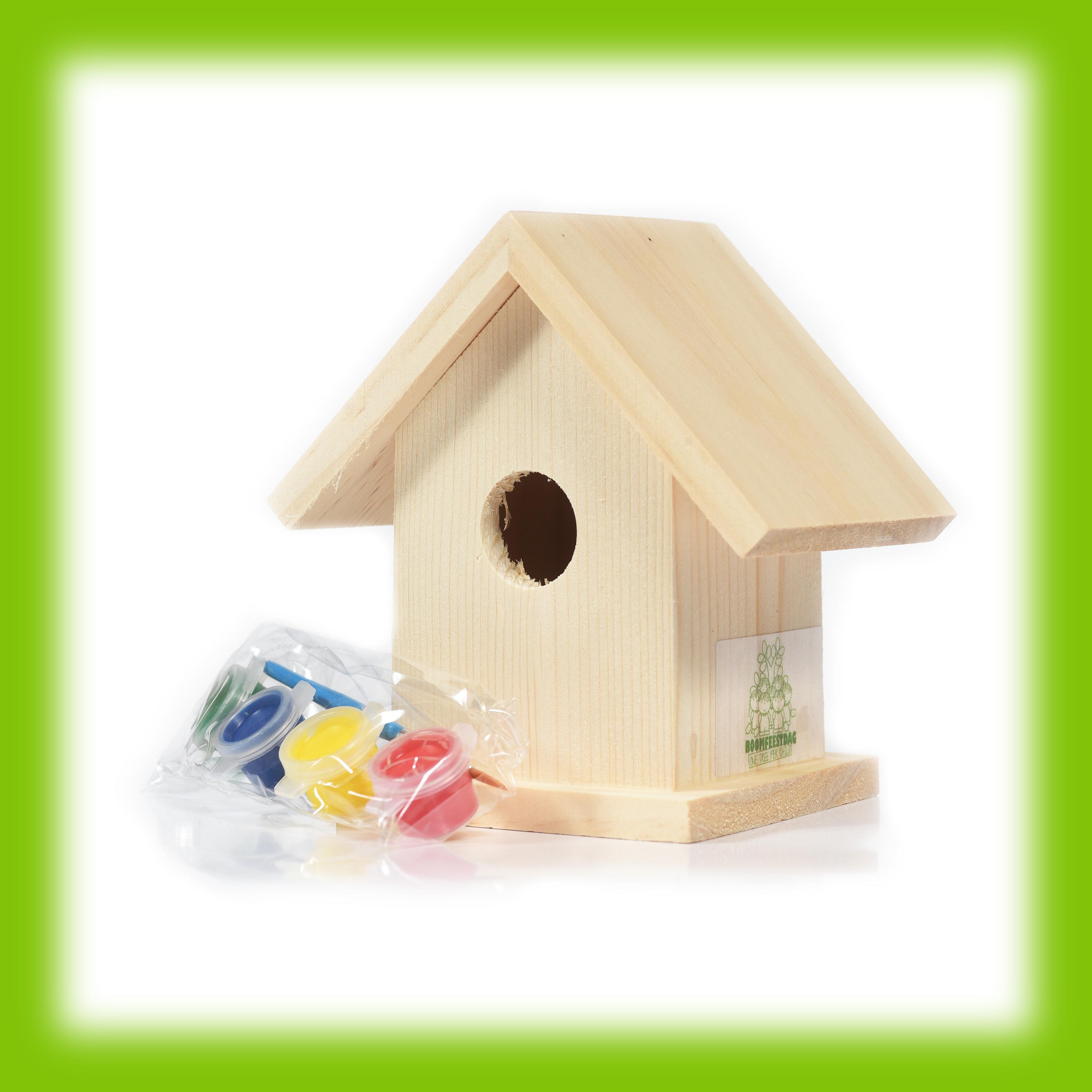 Vogelhuisje met verfset - Overige
